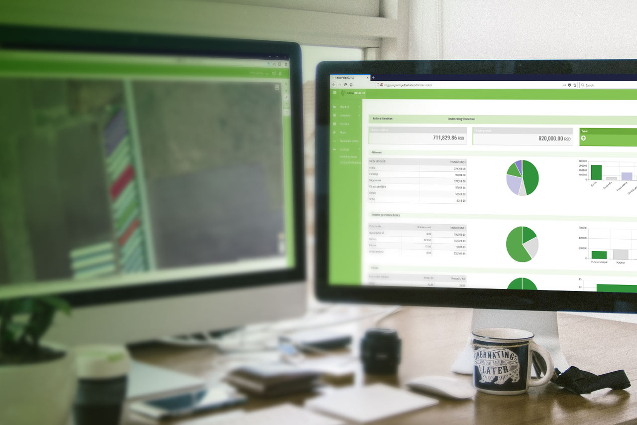 desktop prikaz aplikacije